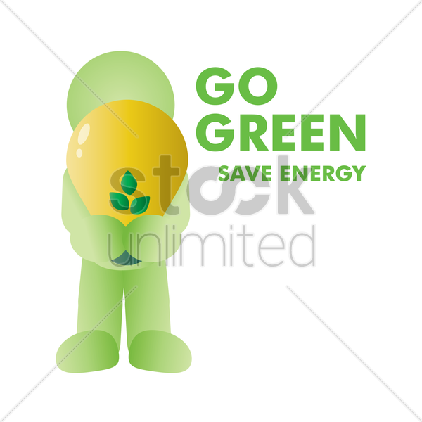 save energy vector graphic