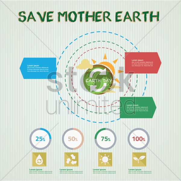 Free save mother earth infographic vector graphic