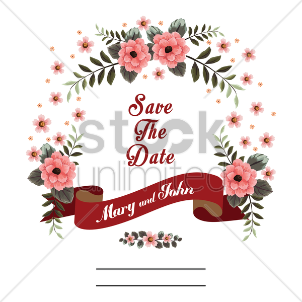 save the date card vector graphic
