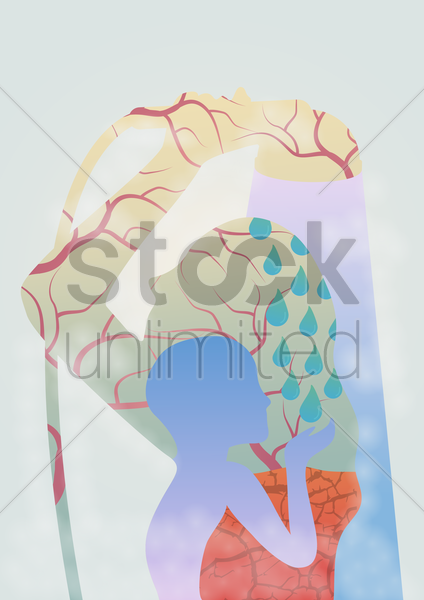 save water concept vector graphic