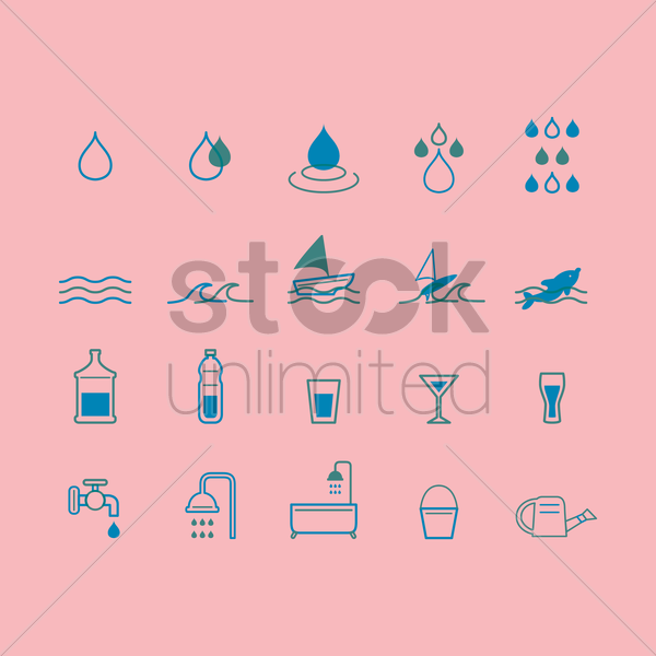 save water design vector graphic