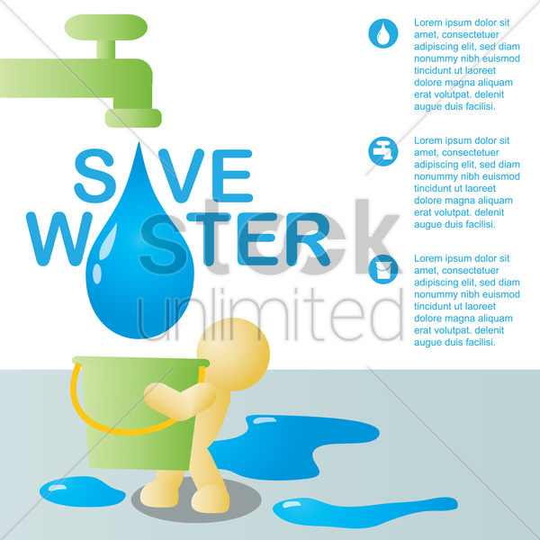 save water vector graphic