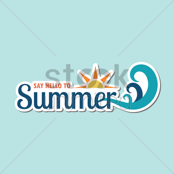 say hello to summer vector graphic
