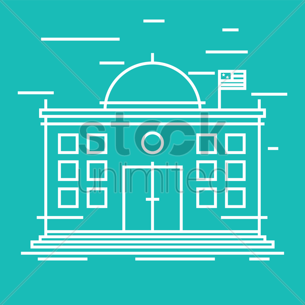 school building vector graphic