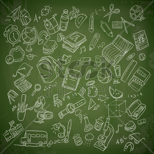 school education elements vector graphic