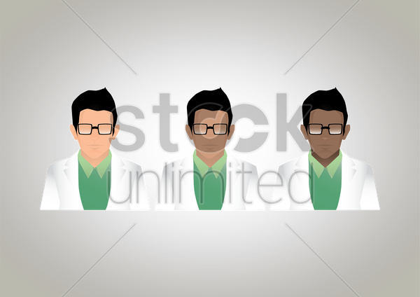 scientists vector graphic