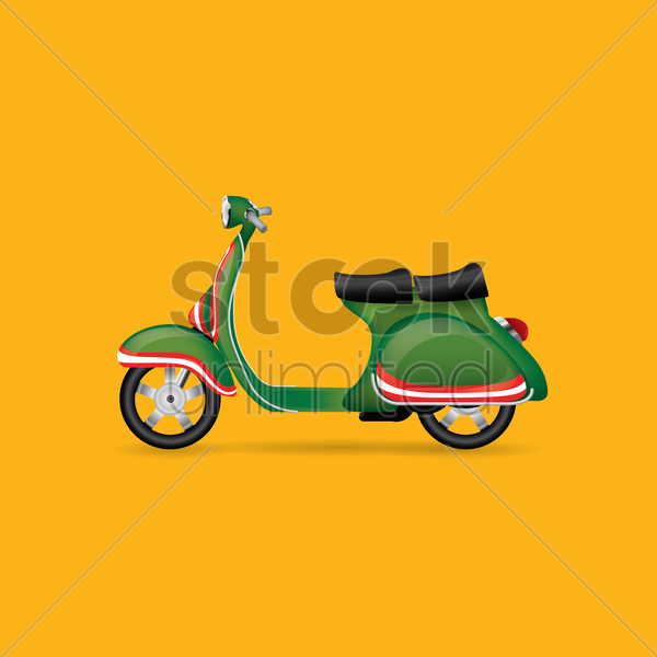 scooter vector graphic