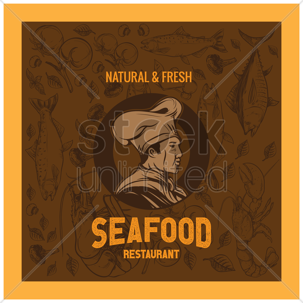 seafood wallpaper vector graphic