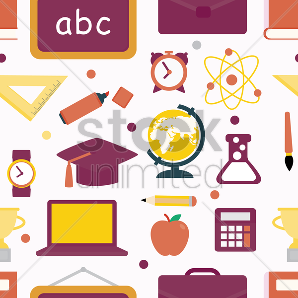 seamless education design vector graphic