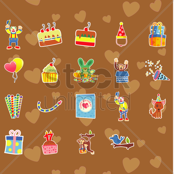 seamless pattern of birthday vector graphic