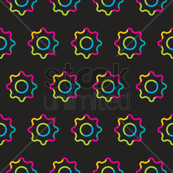 seamless settings symbol pattern vector graphic