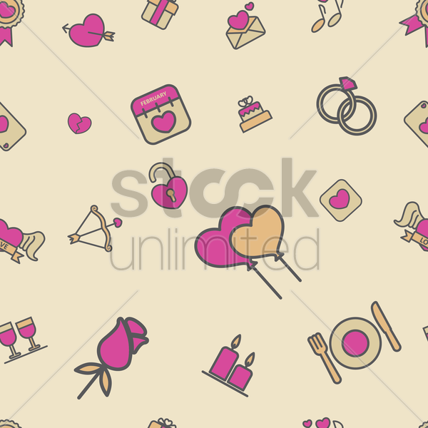 seamless valentine background vector graphic