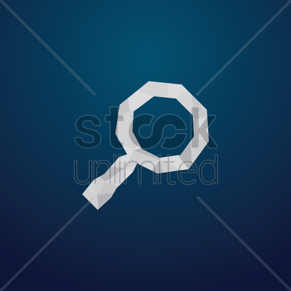 Free search icon vector graphic
