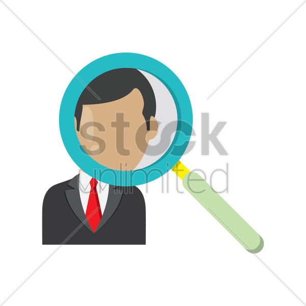 Free searching for employee vector graphic