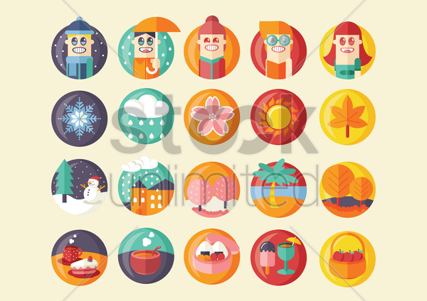Free seasonal conditions vector graphic