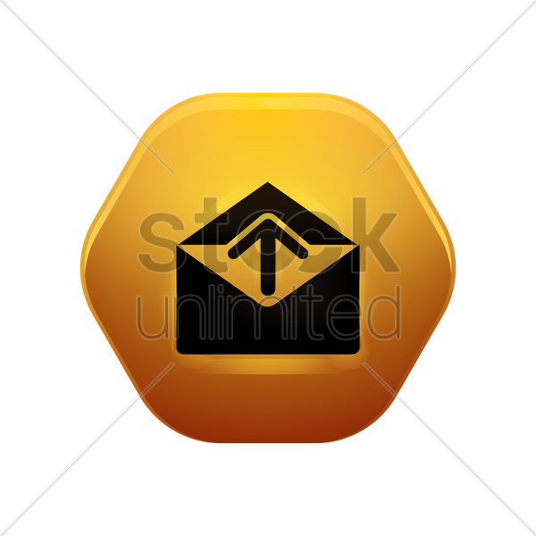 sending mail icon vector graphic