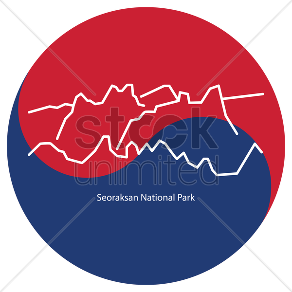 seoraksan national park vector graphic