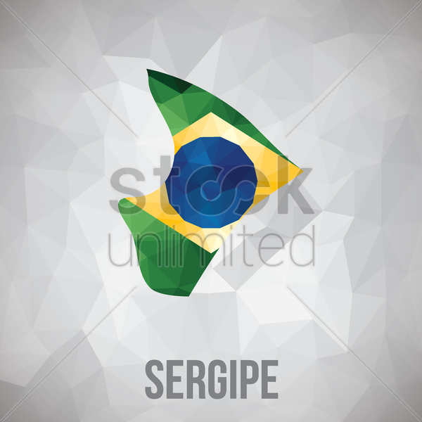 sergipe state map vector graphic
