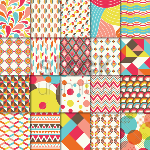 Free set of abstract backgrounds vector graphic
