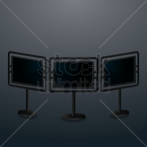 set of advertising billboards vector graphic