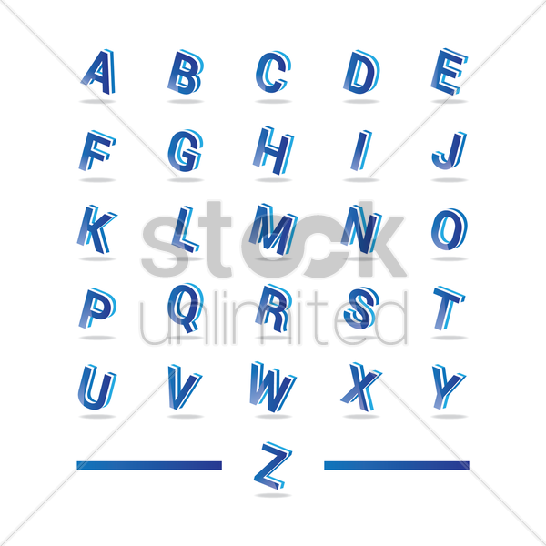 set of alphabets vector graphic