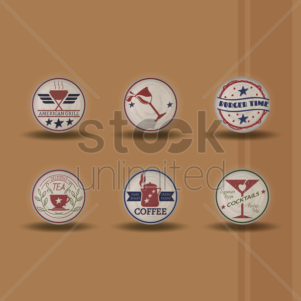 set of american backgrounds vector graphic