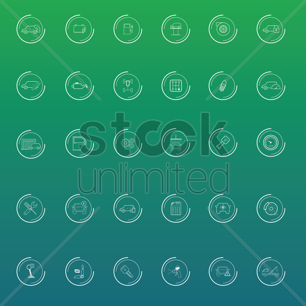 Free set of automobiles vector graphic