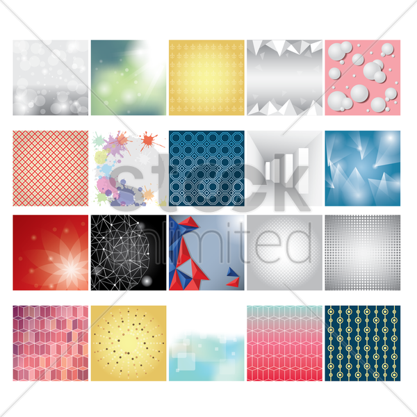 set of backgrounds vector graphic