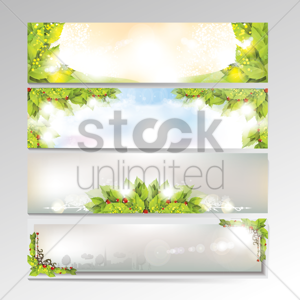 set of banner designs vector graphic