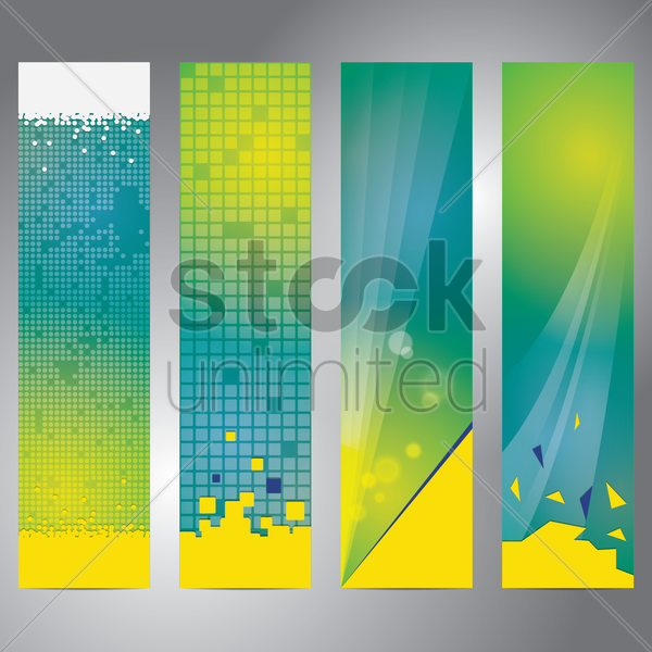 set of banners with abstract background vector graphic