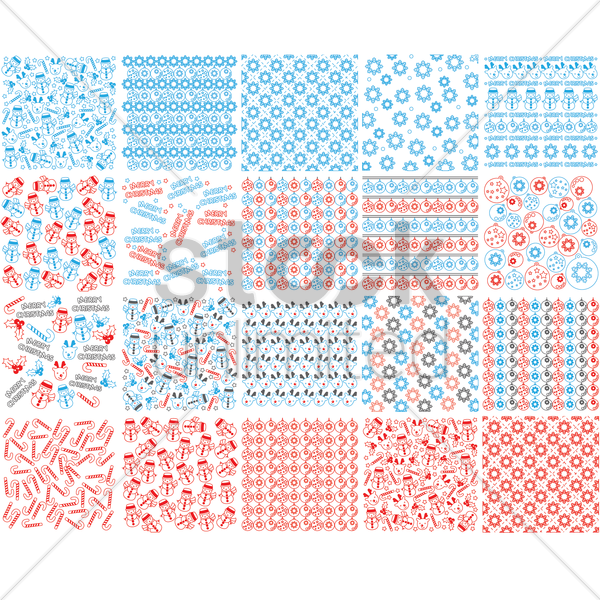 set of christmas pattern backgrounds vector graphic