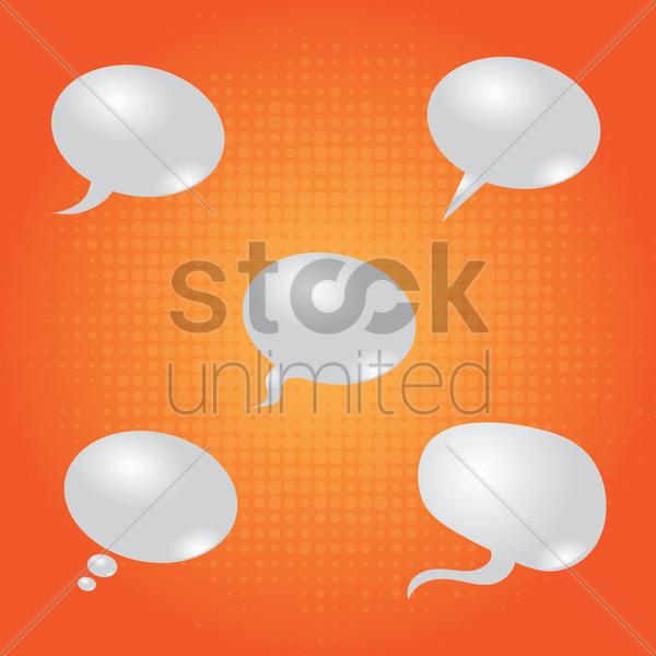 set of comic speech bubble effects vector graphic