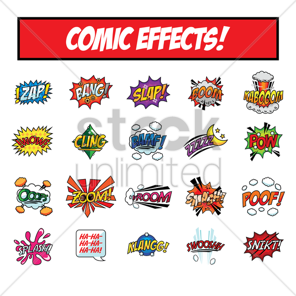 set of comic speech bubbles vector graphic