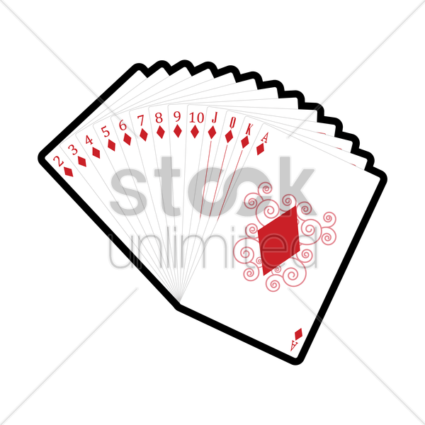 set of diamonds cards vector graphic