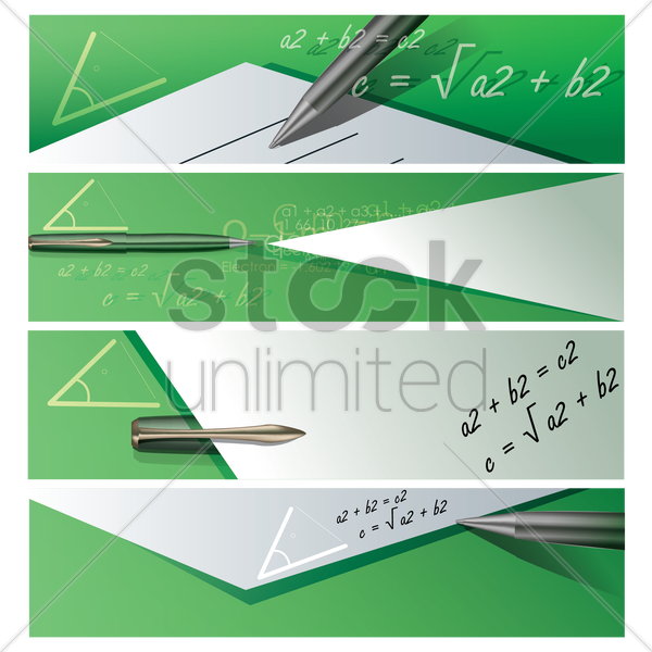 set of education banners vector graphic