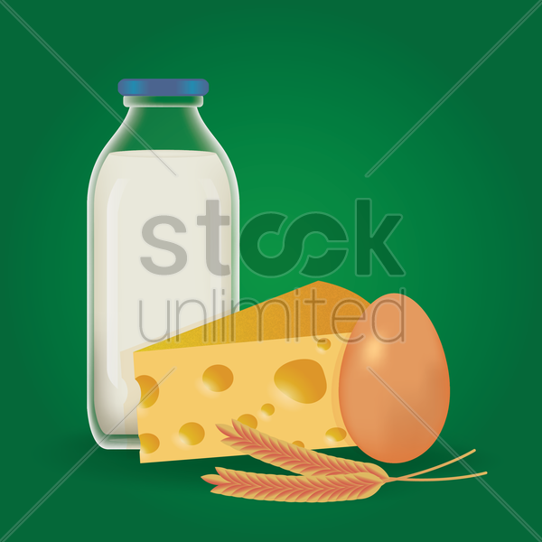set of farming products vector graphic