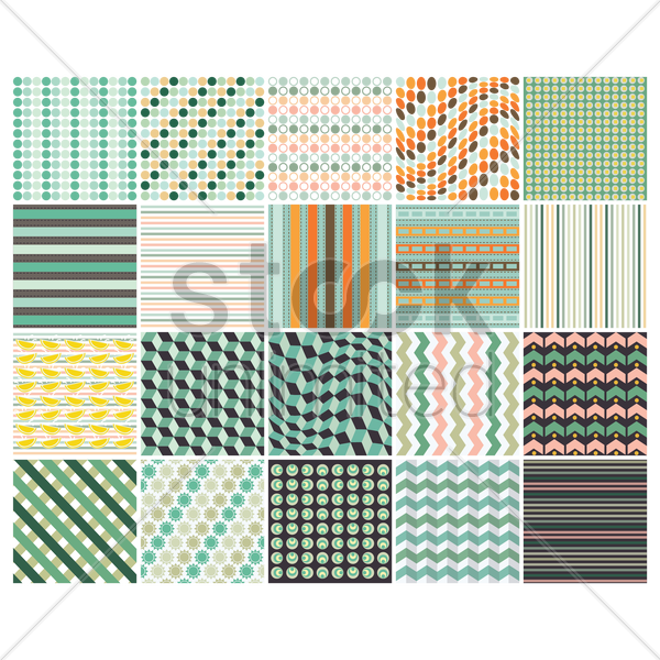 set of geometric backgrounds vector graphic