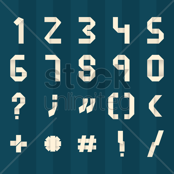 set of mathematical icons vector graphic