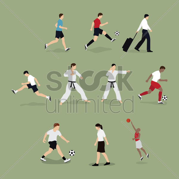 set of people with different occupation vector graphic