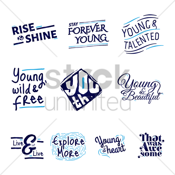 set of quote designs vector graphic