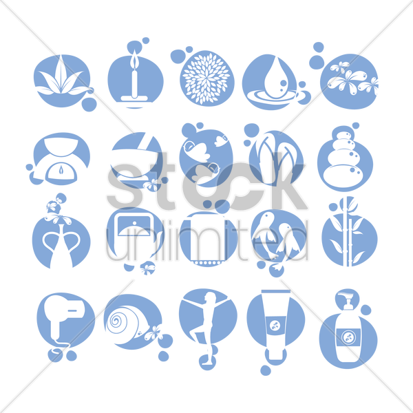 Free set of spa icons vector graphic
