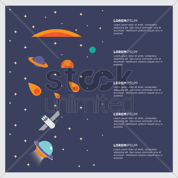 set of space banners vector graphic