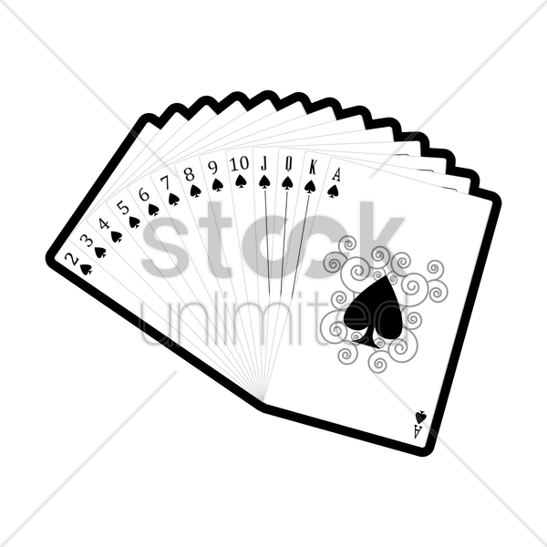 set of spades cards vector graphic