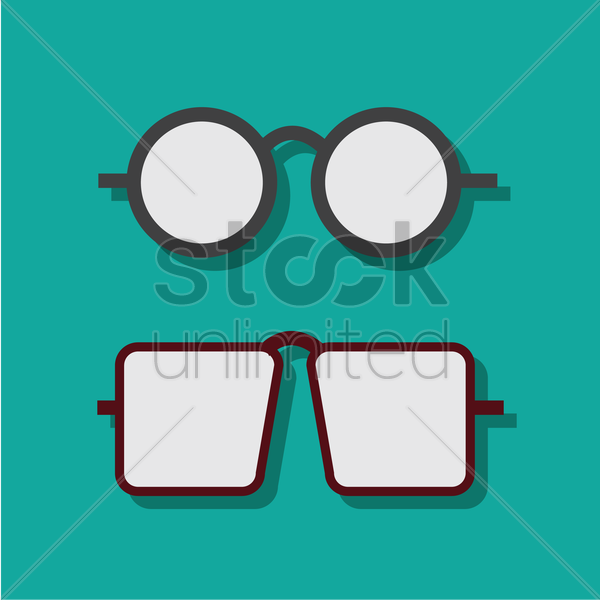 Free set of spectacles vector graphic