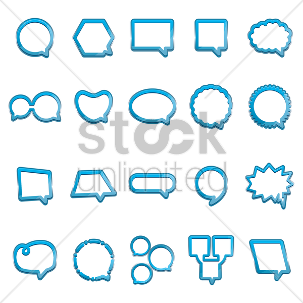 set of speech bubbles vector graphic
