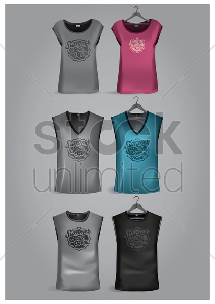 set of t-shirts vector graphic