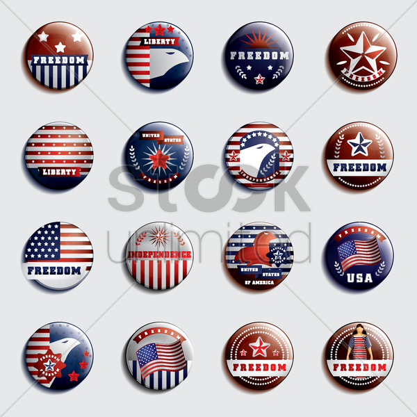 set of usa badges vector graphic