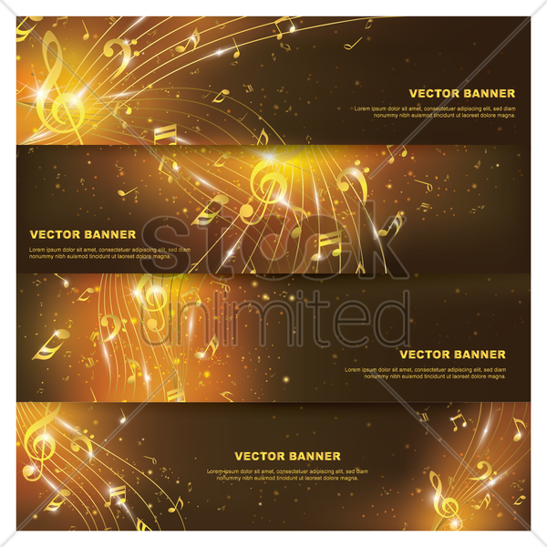 set of vector banners vector graphic