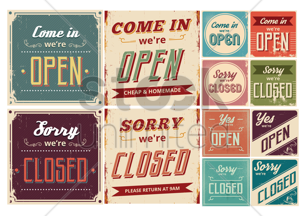 set of vintage wallpapers vector graphic