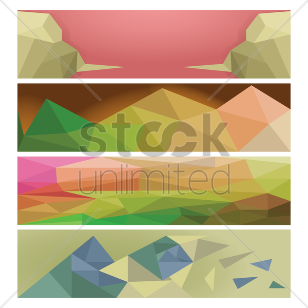 set of web banners vector graphic